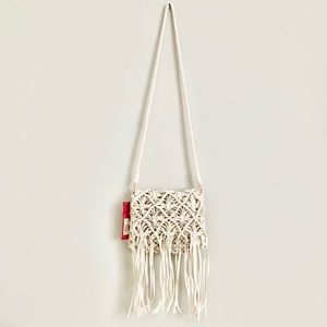 Macramé Woven Knotted Crossbody Bag